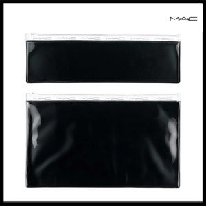 MAC COSMETICS 2 PIECE POUCH ZIPPER BAG SET